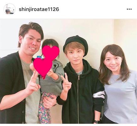 AAA・與真司郎、マエケン一家との4ショット記念写真公開で「まさかの繋がり」「ほっこりする写真」サムネイル画像