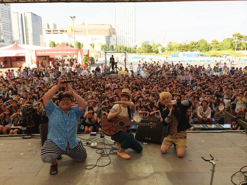 佐香智久 お台場新大陸2014めざましライブで新曲「少年とロボット」をバンドスタイルで初披露サムネイル画像