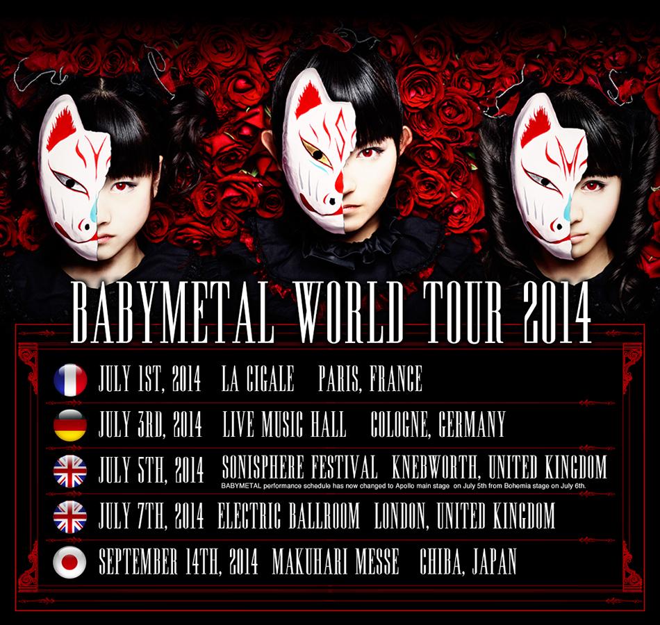 BABYMETAL、日本公演を含むワールドツアー決定  イギリス大型ロックフェスのメインステージに大抜擢!サムネイル画像