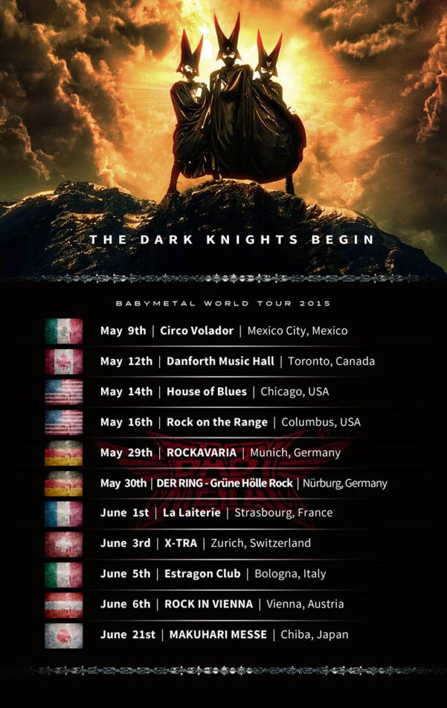 「BABYMETAL WORLD TOUR 2014」のロンドン公演2公演の模様を収録した映像作品、5月20日(水)発売決定サムネイル画像