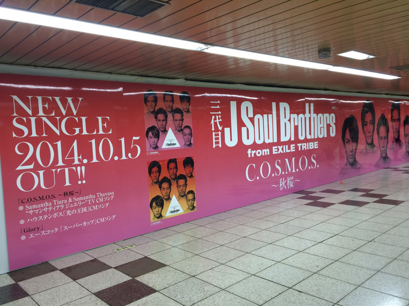 新宿駅で三代目 J Soul Brothersのコスモス1万本が咲き誇る!?サムネイル画像