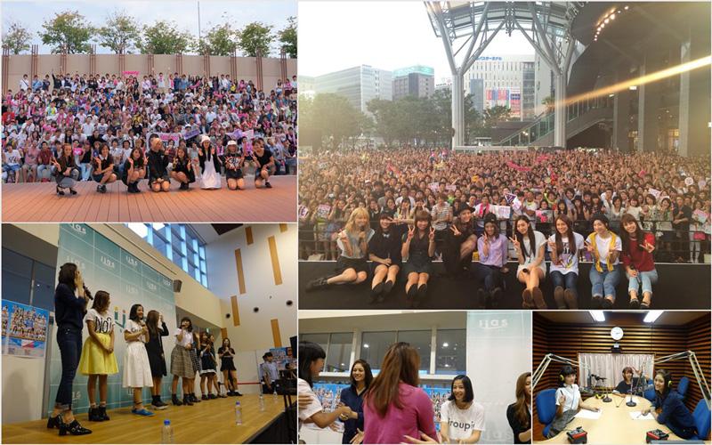 E-girls、新曲発売記念!全国でファンと触れ合いサムネイル画像