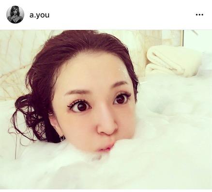 浜崎あゆみ、リラックス入浴写真公開で「すっぴんが一番可愛い」「何でそんなに肌綺麗」サムネイル画像