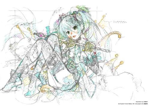 SmileRアルバムに、江端里沙が初音ミクを描き下ろし。「ラフイメージカット」が公開サムネイル画像