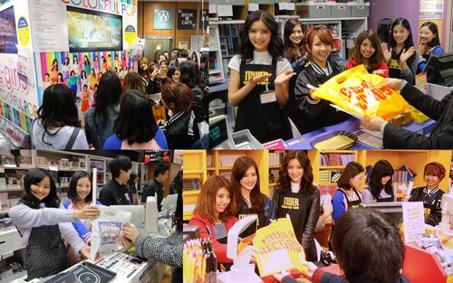 全国のCD店にE-girlsがエプロン姿でサプライズ登場サムネイル画像