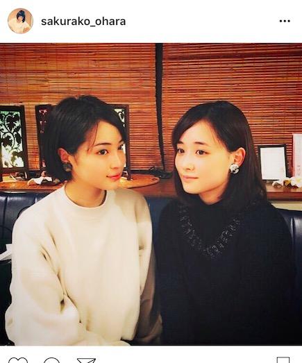 """大原櫻子、広瀬すずと色違い""""お揃い""""2ショットを披露。「姉妹みたい」「2人とも可愛すぎ」サムネイル画像"""