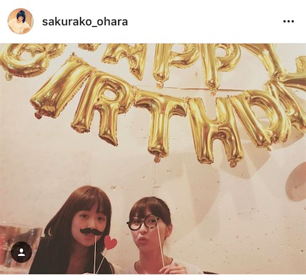 大原櫻子とももクロ・玉井詩織の誕生日ショット公開にファン歓喜。「神がかってる」「最高の2人」サムネイル画像