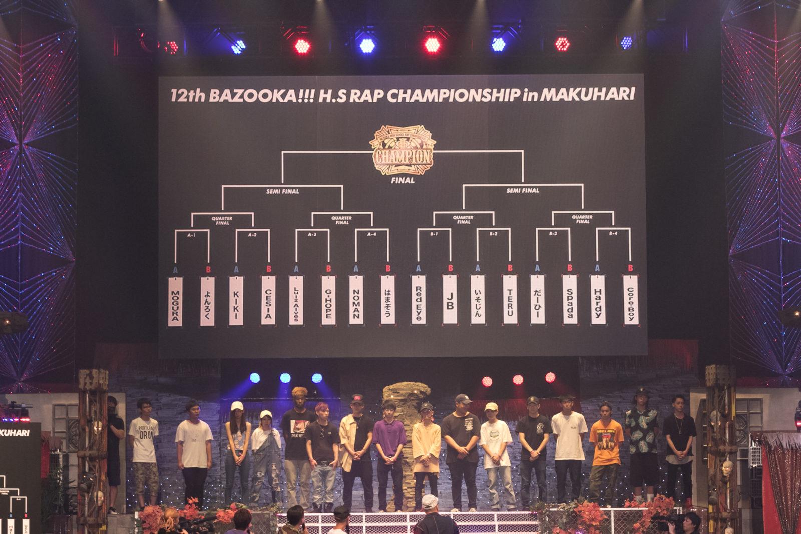 『第12回高校生RAP選手権in幕張』チャンピオンはCore-Boy!大会は9月4日(月)、LIVEアクトは9月11日(月)に放送サムネイル画像