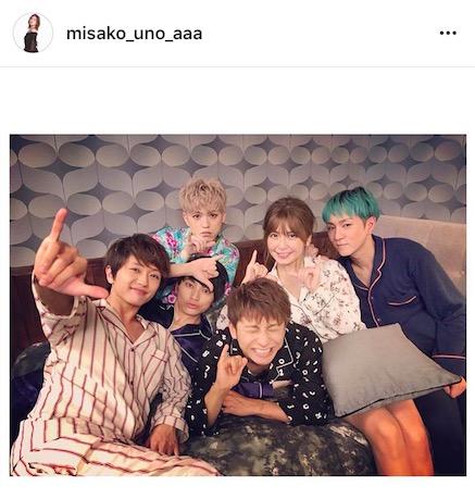 AAA宇野実彩子がメンバー全員とのパジャマ姿のオフショットを公開で「仲良すぎ」「むりむり」と絶賛サムネイル画像