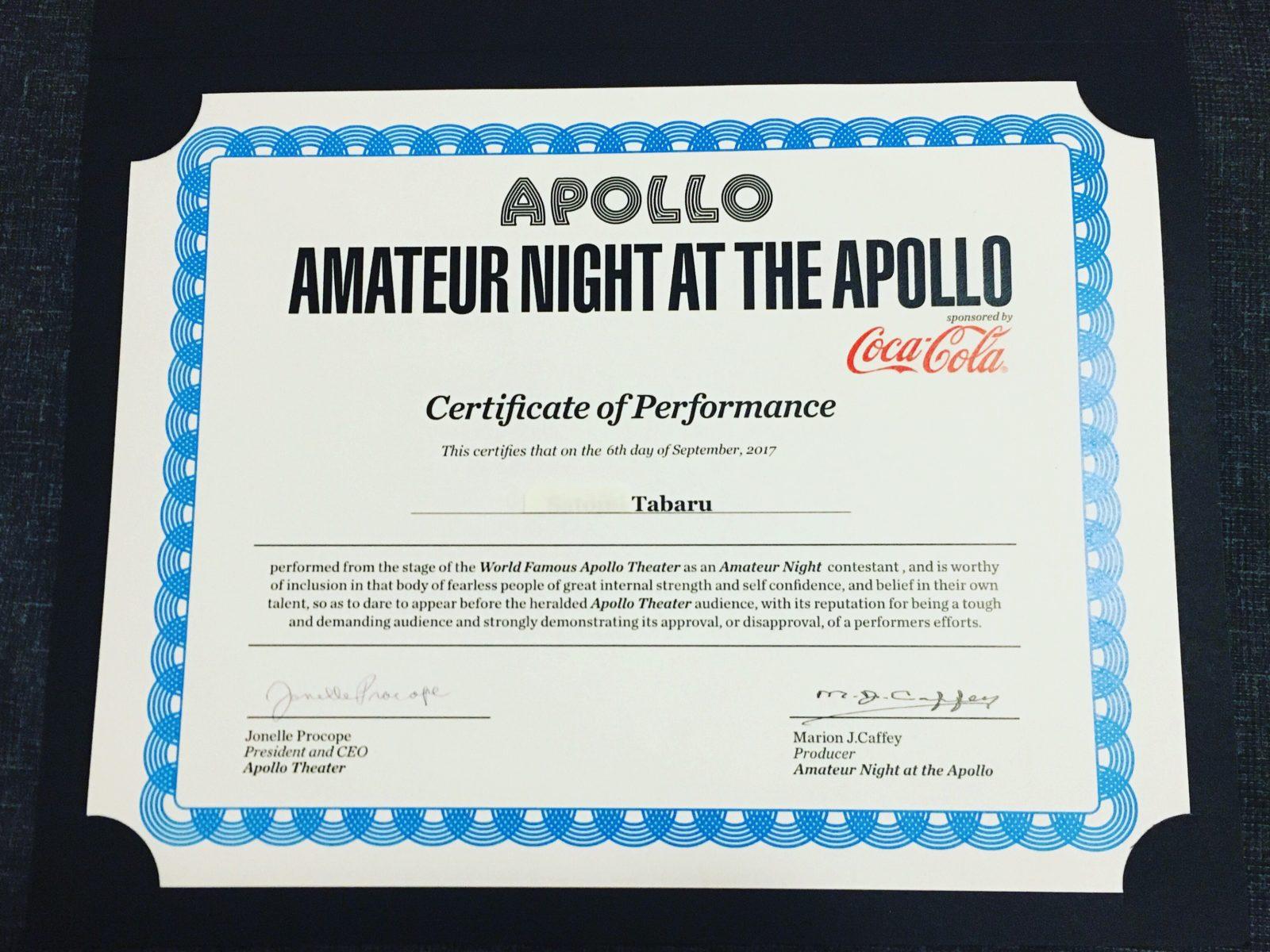 TABARU 初めてのNew York1ヶ月生活レポート 〜APOLLO THEATER Amateur Night に出場!! 編〜画像43104