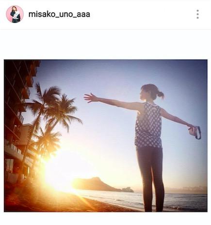 AAA宇野実彩子、初フルマラソンへの意気込みと、朝日に向かうバックショット披露サムネイル画像
