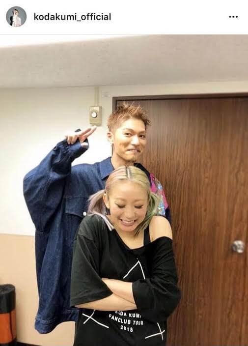 倖田來未とEXILE SHOKICHIの身長差ショットにファン歓喜