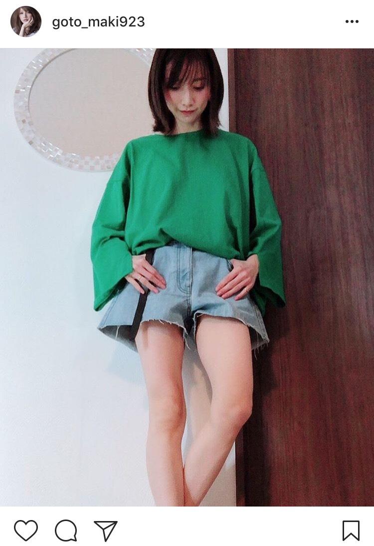後藤真希のミニ丈コーデ披露に「とんでもない美脚!」と反響サムネイル画像