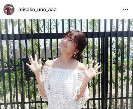 AAA宇野実彩子 肩見せオフショル衣装に「女神さま」の声サムネイル画像