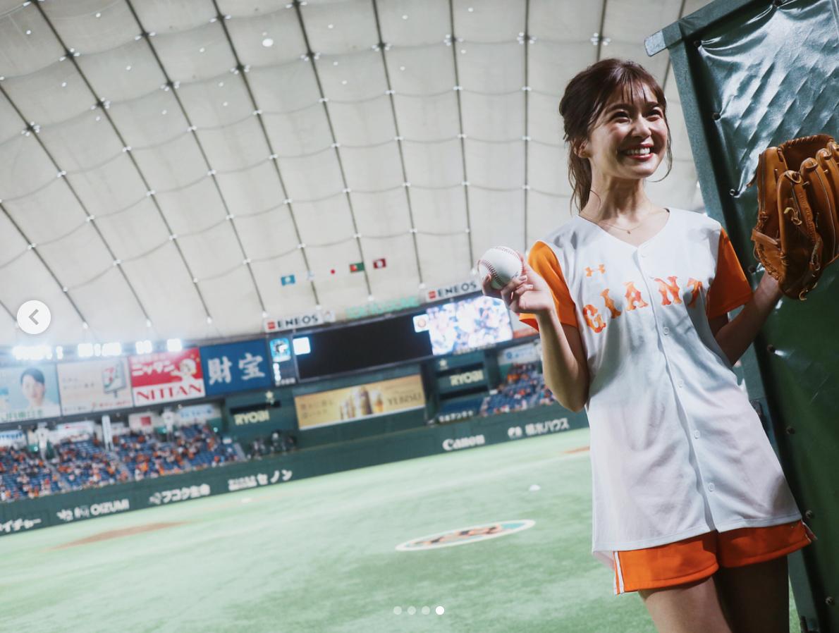 「全てが美!」AAA宇野実彩子、始球式でのショーパンユニフォーム姿公開サムネイル画像
