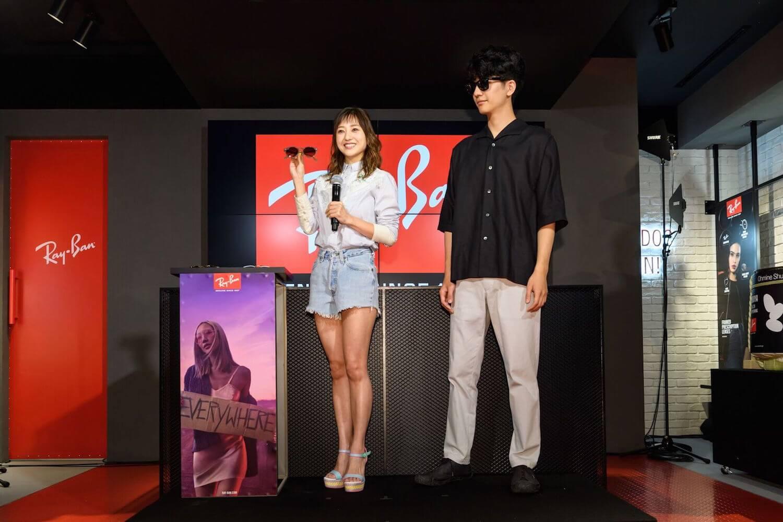 伊藤千晃「私と付き合ってください」照れながらの告白シーンも!「Ray-Ban Store SHIBUYA」オープンイベント開催サムネイル画像