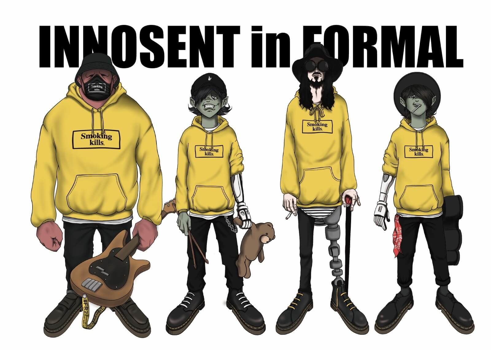 架空のカートゥーン・バンドINNOSENT in FORMAL、新曲「Riff」のミュージックビデオ公開サムネイル画像
