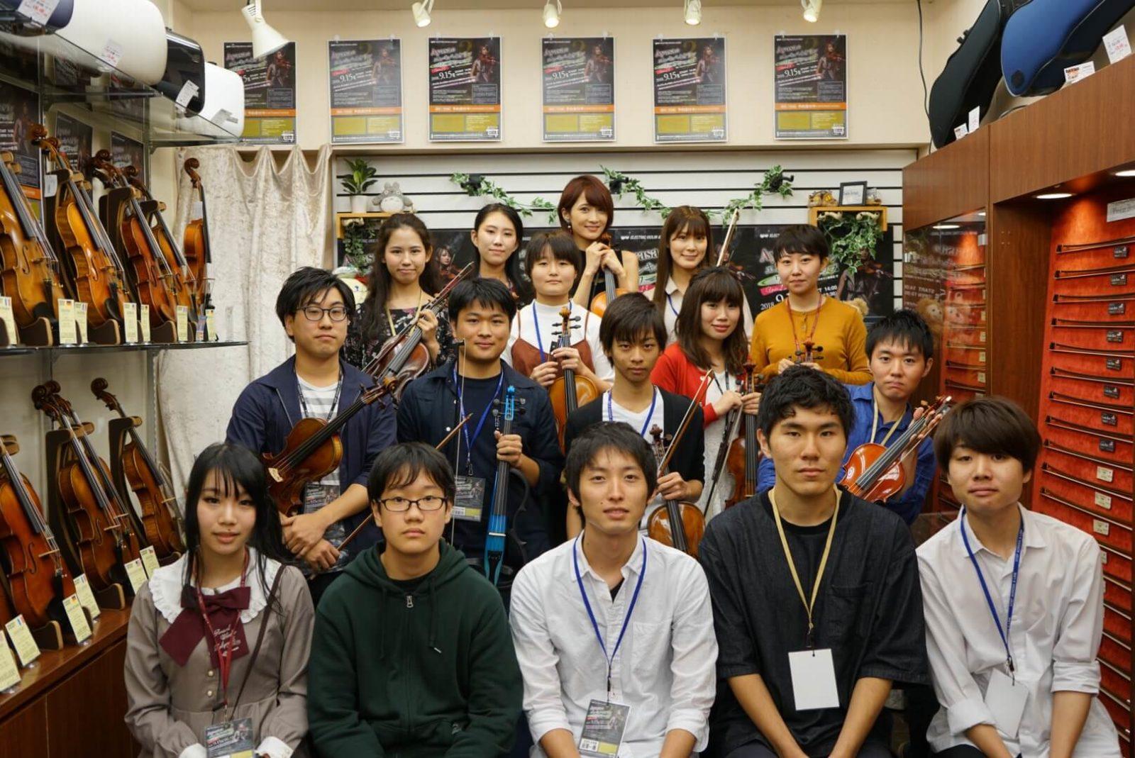 ヴァイオリニストAyasaが23歳以下のワークショップを主催サムネイル画像