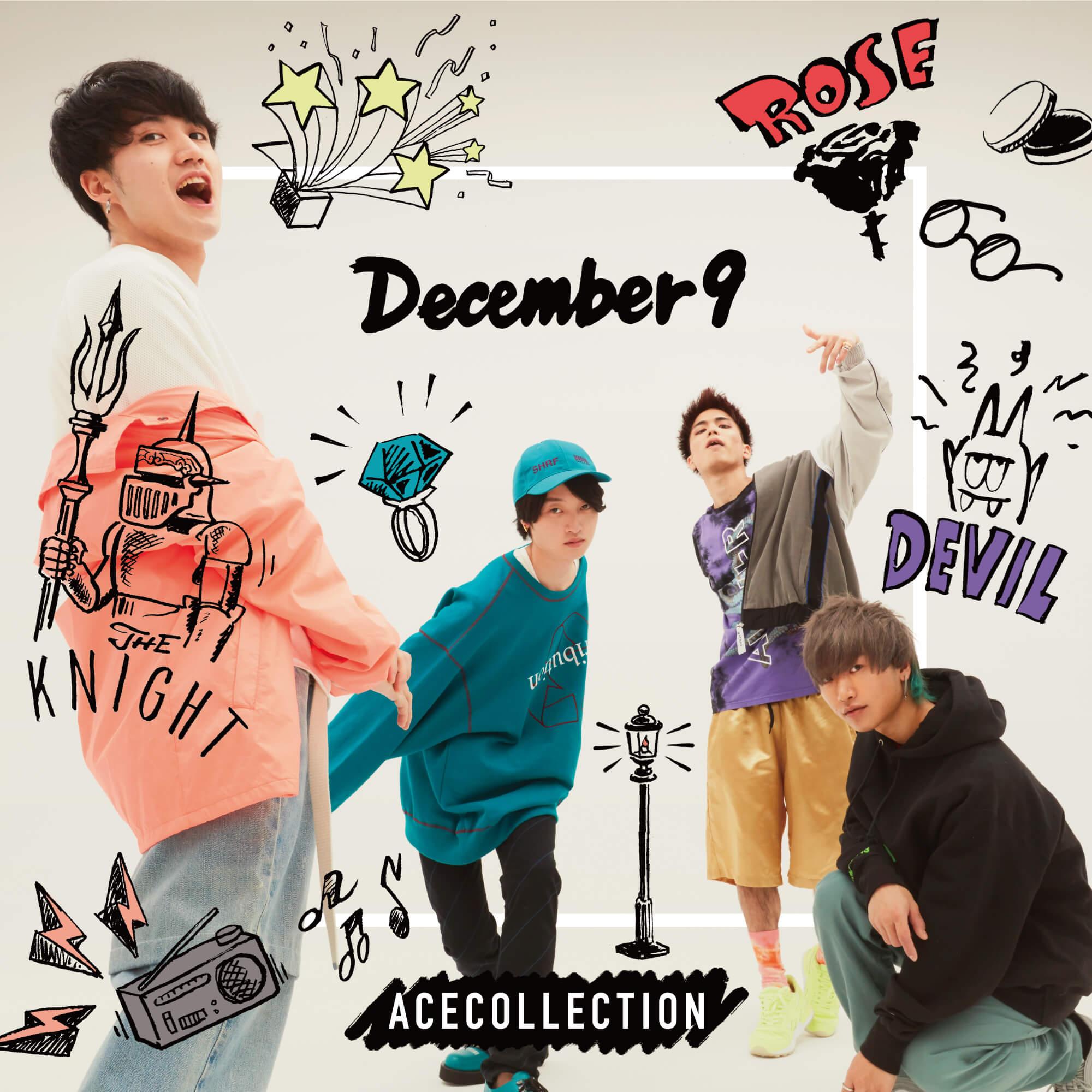 ACE COLLECTION、初アルバム「December 9」ジャケット&収録曲発表
