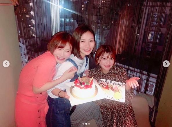 手島優、矢口真里と朝日奈央との誕生日会ショット披露&出会いも明かす「逆ナンして…」