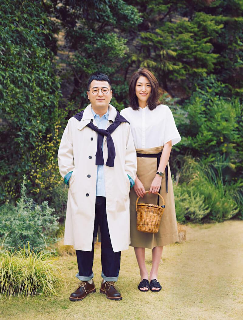 和牛・水田信二、モデルの望月芹名と夫婦役でパパ・ママファッションを披露
