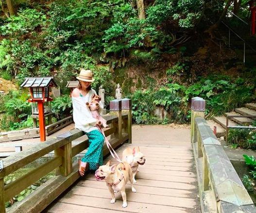 「どこの常夏空間やねん」浜崎あゆみ、自宅庭のヤシの木バックにミニワンピで美脚披露