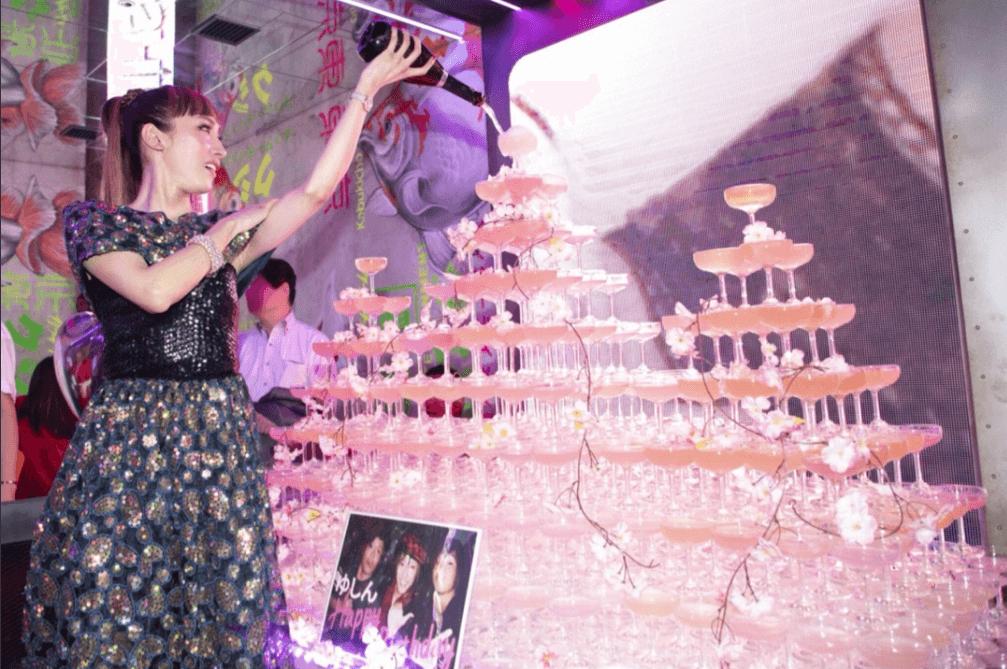 ゆしん、生誕祭でのシャンパンタワー写真公開「人生初めて」