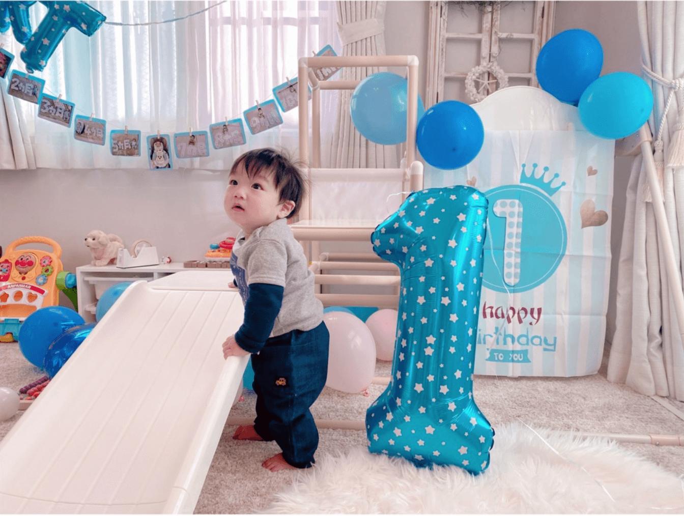 辻希美、三男が1歳を迎え記念写真公開「またまたあの感動を思い出しました」