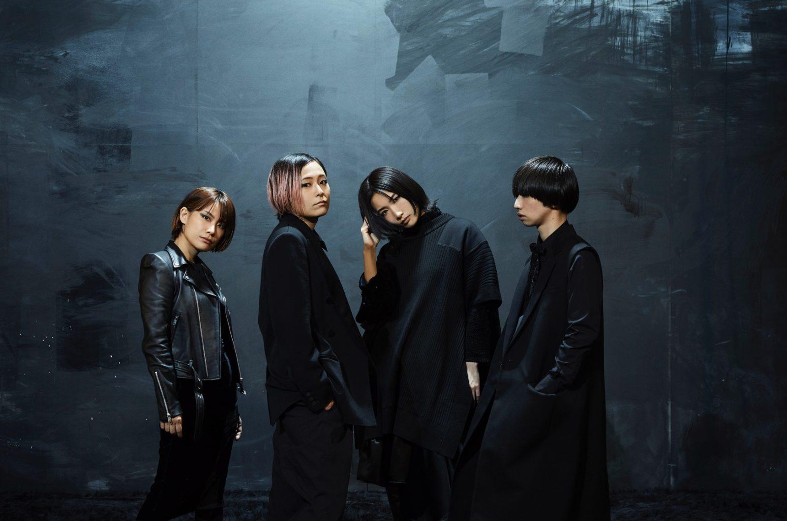 tricot、メジャー1stアルバム「真っ黒」のアートワークとアーティスト写真を公開サムネイル画像