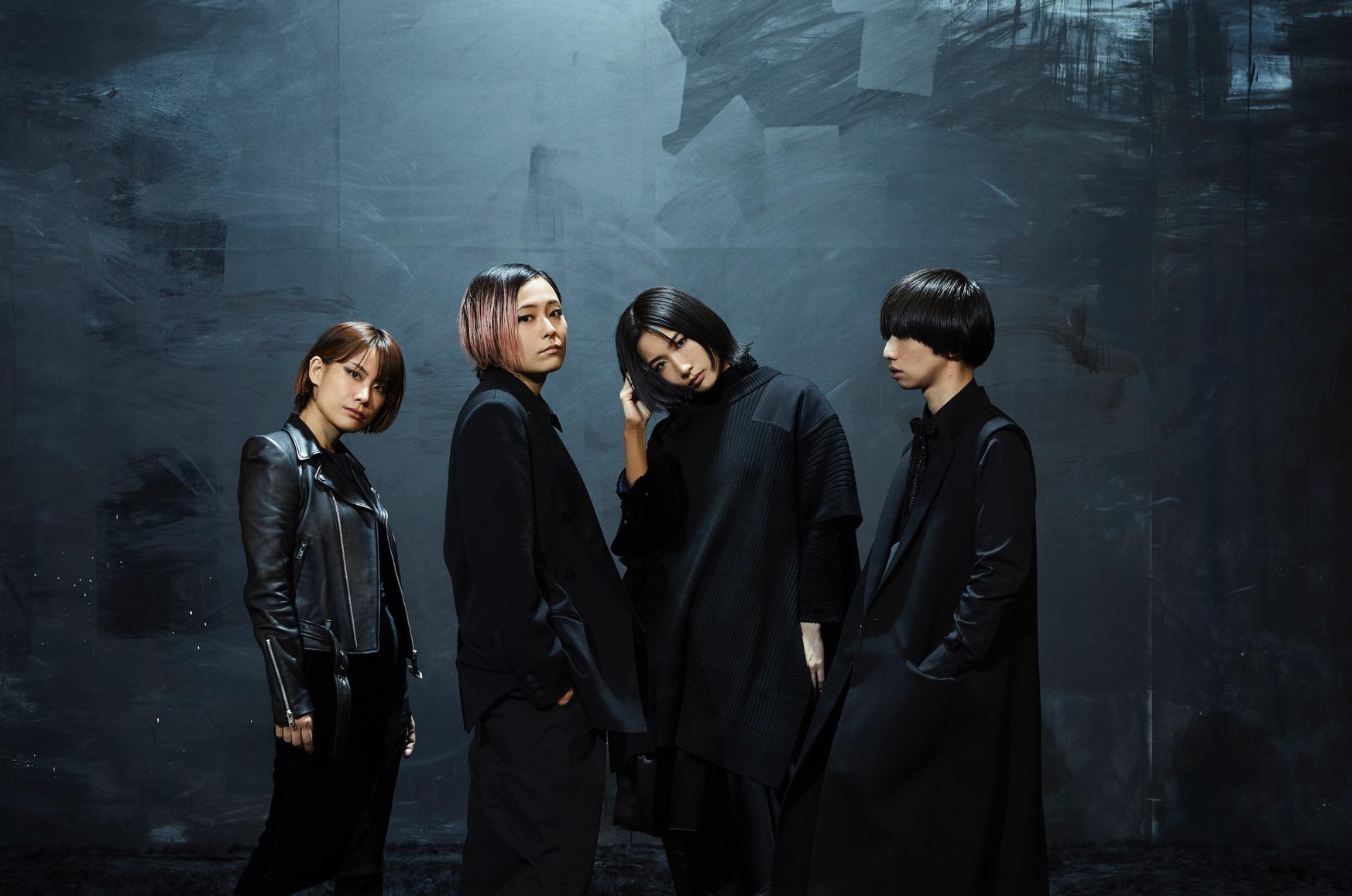 tricot、メジャー1stアルバム「真っ黒」のアートワークとアーティスト写真を公開