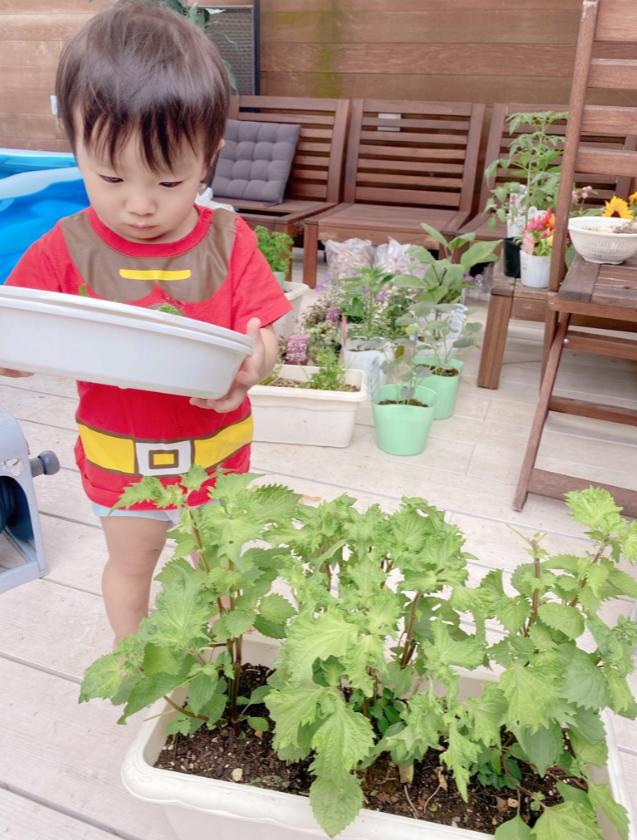 """辻希美、自宅バルコニーの家庭菜園バックにした自撮り&三男の""""収穫""""SHOTを公開"""