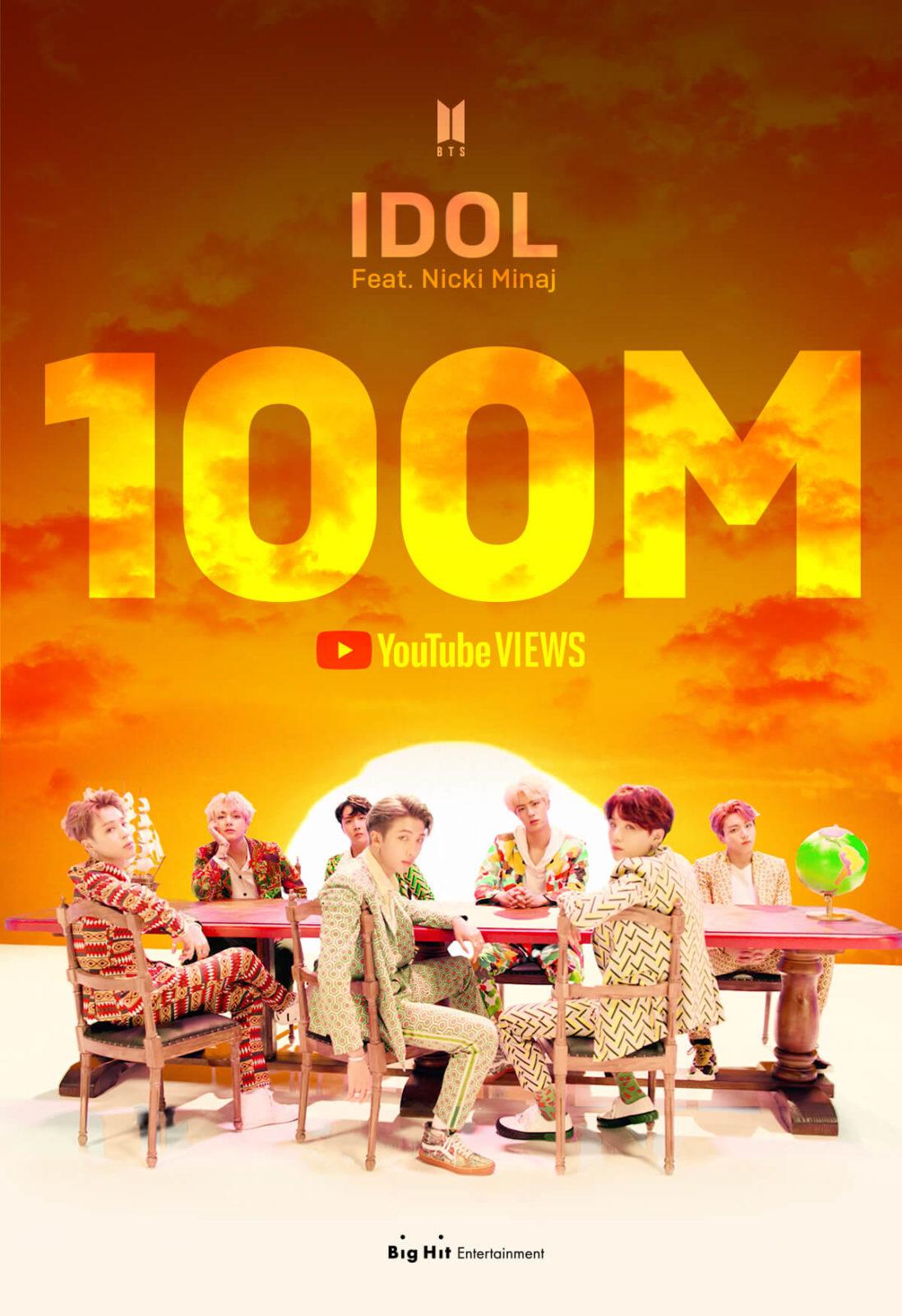 BTS、Nicki Minajフィーチャリング「IDOL」と「Black Swan」MVがそれぞれ1億再生突破サムネイル画像
