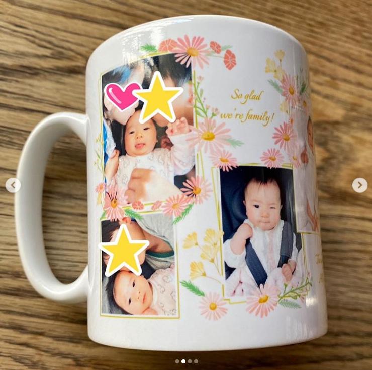 藤本美貴、子どもとのくっつき笑顔SHOT&キュートな赤ちゃんの写真入りマグカップ公開