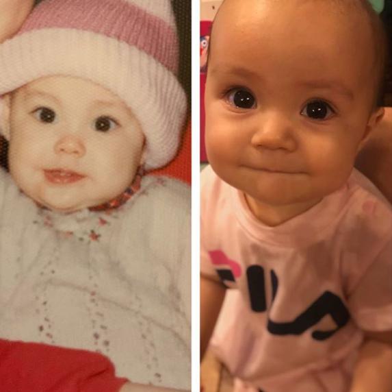 """「美人親子」土屋アンナ、1歳次女と""""自分の小さい時""""の2SHOTに反響「瓜二つですね」"""