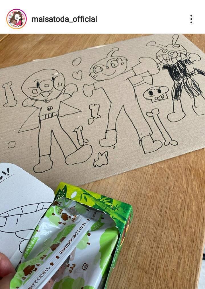 里田まい、4歳長男が描いたイラストに反響「絵心満点」「ビックリしました!」