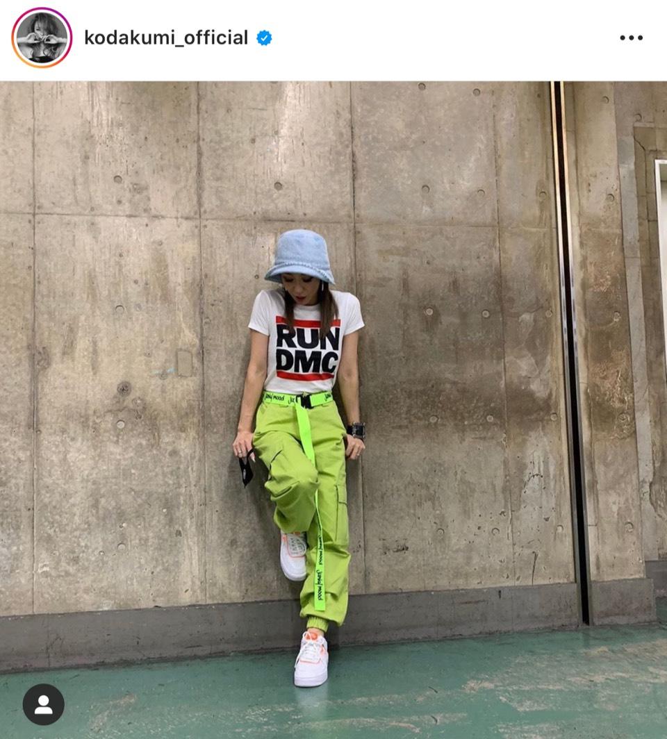 倖田來未、息子の服を借りたボーイッシュコーデ公開に反響「神スタイルすぎる」「似合ってる」