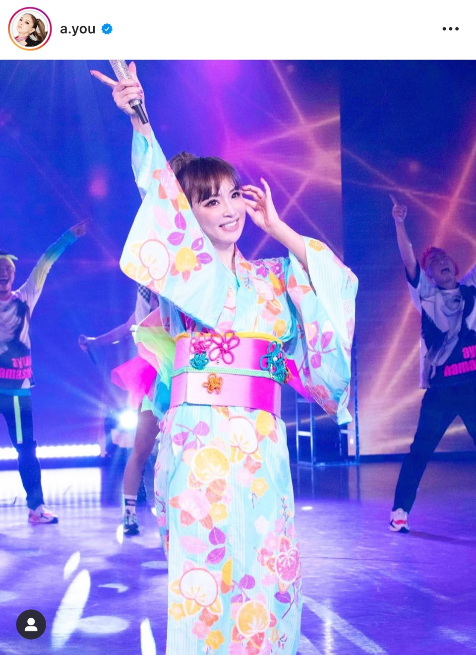 浜崎あゆみ、水色の浴衣姿SHOT公開にファン反響「鬼可愛い」「似合いすぎ」
