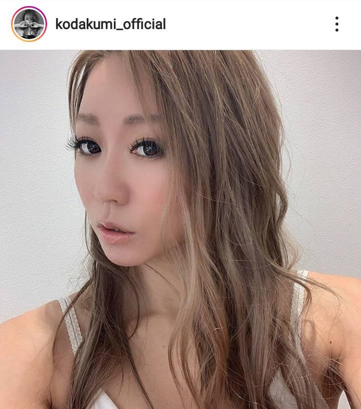 倖田來未、肩出しスタイルの美麗SHOTに絶賛の声「理想の女性」「大人キレイなくぅちゃん」
