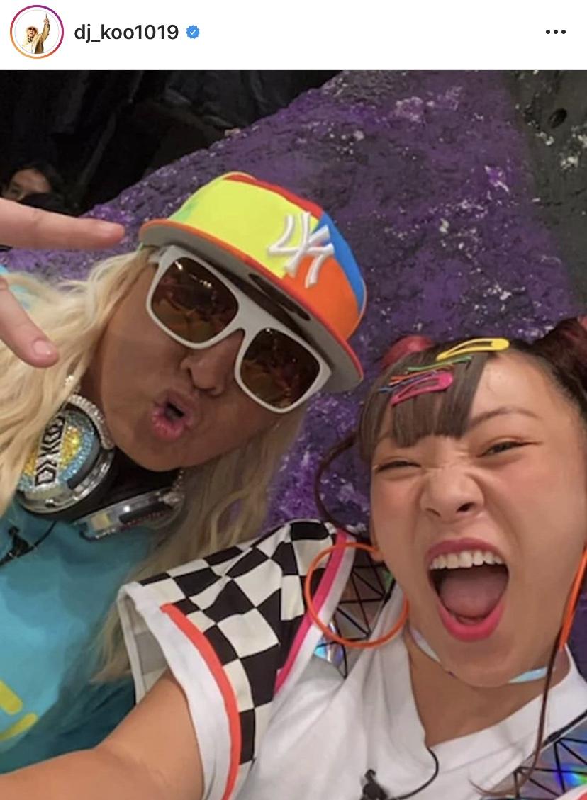 "DJ KOO、""フワちゃん映え""テンション上がる2SHOT公開し反響「最強&最強」「元気をもらえる」サムネイル画像"