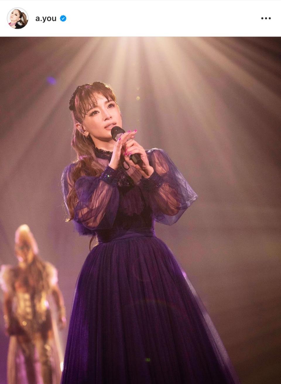 浜崎あゆみ、シースルーのブラックドレスSHOT公開「20年振りに向き合った…」
